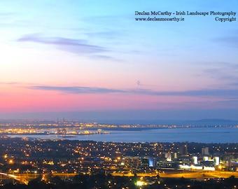 Three Rock Sunset across Dublin Bay