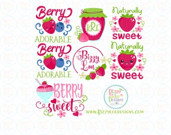 berry bundle SVG, DXF, EPS berry cut file berry adorable svg baby svg cute svg baby svg strawberry cut file straawberry svg blueberry svg