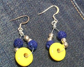 Wired Earrings Sunny Blue