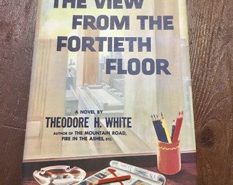 Midcentury novel The View From The Fortieth Floor mcm book with illustrations
