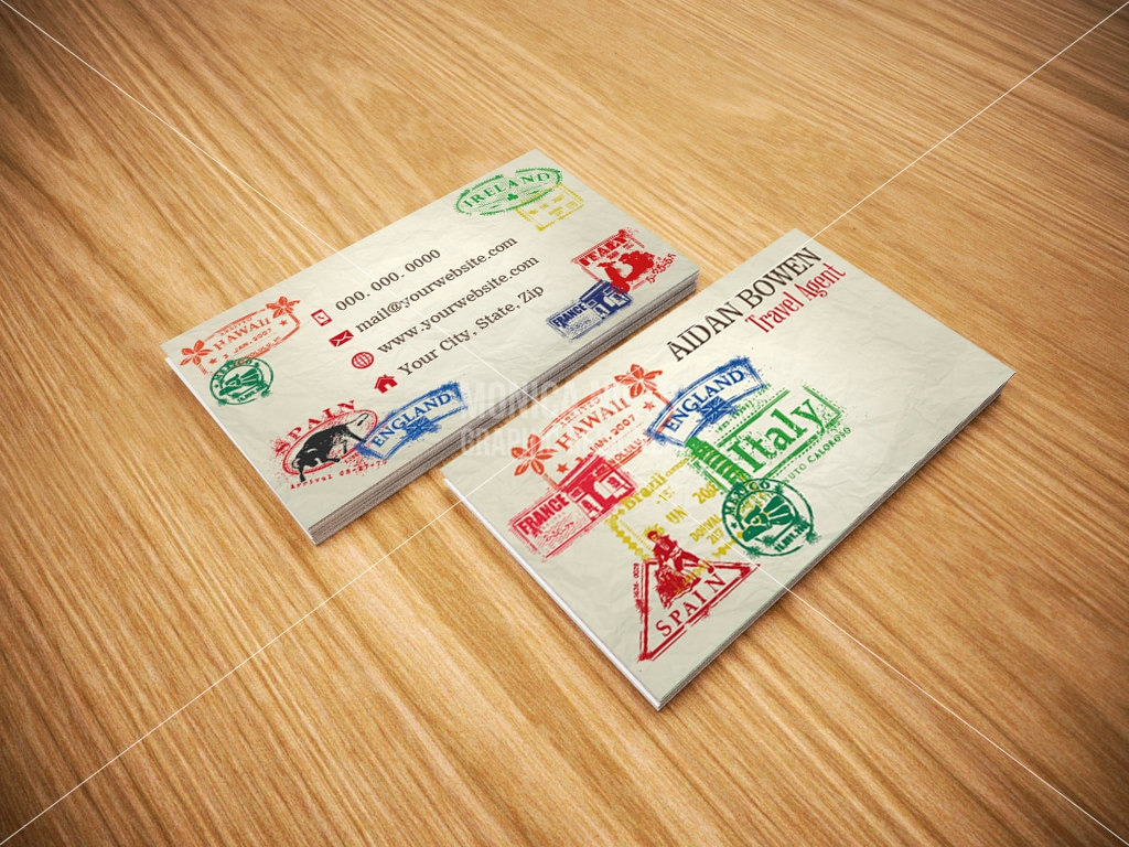 Travel Agent Business Cards/ Travel Agency Business Cards/
