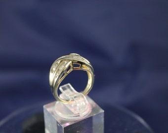 Estate Sale .50ctw Diamond criss-cross ring 14K Y/G, 50% Off