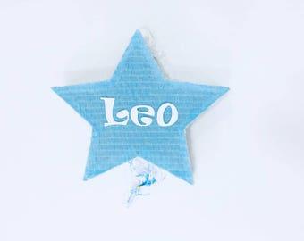 Blue Light Star pinata to birthday or bautism,... Piñata de estrella azul para cumpleaños, bautizos, comuniones...