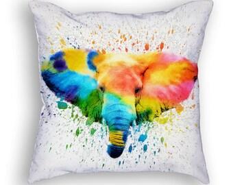 Elephant Throw Pillow, 18x18, Cushion Home Decor, Gift Idea, Pillow Case