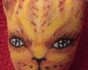 Baby kitty, Mimi, OOAK Art Cat, Handmade, Collectible, Cloth Doll, OOAK Doll