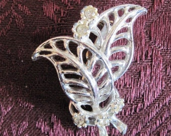 Vintage Open Work Silver Brooch