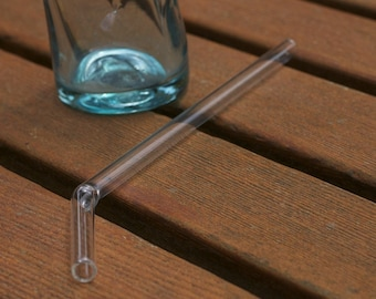 Glass Bended Straw - Regular Size - Reusable and Eco-Friendly -  Lifetime Guarantee