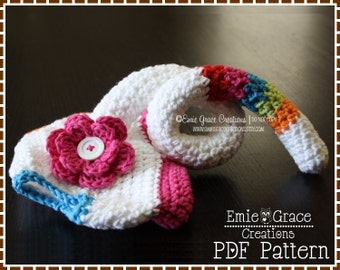 Diaper Cover Crochet Pattern - SOCK MONKEY - 702
