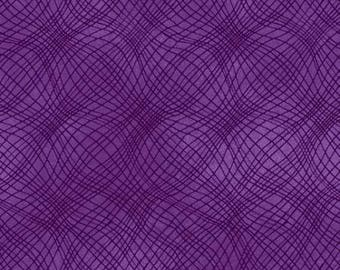 Loose Mesh Texture Purple - P & B Textiles- Cotton Fabric-Floral -Quilt- Apparel-WindyRobinCotton- *Sold in Half Yard