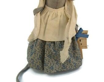 "Felt House Mouse Collectible Stuffed Animal NWT 8.5"" Hand Sewn"