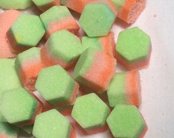 Hexagon Rainbow  Colored Sugar Cube for Tea Party's to go with Coffee or Tea Service