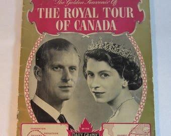 Vintage 1951 Souvenir Booklet of the Royal Tour of Canada