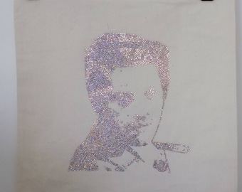 Handmade tote bag, Castiel portrait, supernatural