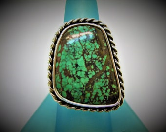 Turquoise Sterling Ring silver ring southwest