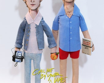 Elio & Oliver, Call Me by Your Name  - Art Dolls - original art - figurative art - collectible doll -