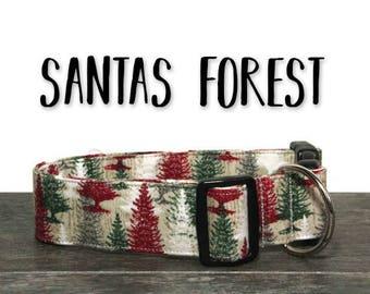 Christmas Dog Collar, Holiday Dog Collar, Red and Green Collar, Christmas Collars, Christmas Tree Collar, Xmas Dog Collars, Festive Collar