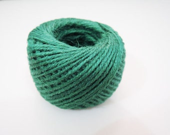 Hemp Cord - 50 Yards 2mm Light Emerald Green Hang Tag String Hemp Twine Cord Hemp Rope Gift Wrapping Party Favors Wedding Favors