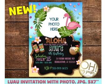 LUAU INVITATION,tropical party,pool party,pool birthday invitation, tropical birthday,summer invitation,summer invite,aloha invitation