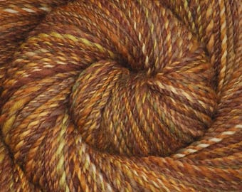 Handspun yarn - Hand painted Blue Faced Leicester (BFL) wool, DK weight, 320 yards - Baltic Amber