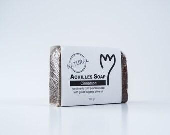 100% Greek Organic Olive Oil Soap - Cinnamon Soap - Natural Soap - Handmade Cold Process Soap