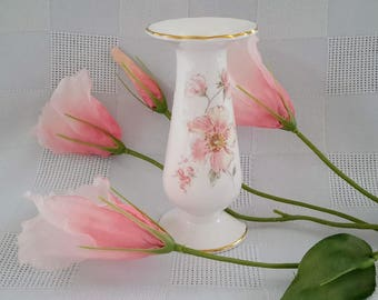 Royal Albert Breath of Spring Miniature Vase or Candlestick, Made in England