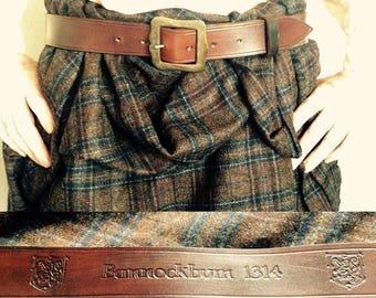 The Battle of Bannockburn and Scottish heroes commemoration belt.