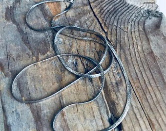 Sterling Silver Flat Snake Chain, 18 Inches, Vintage Unisex Jewelry Fine Jewelry Silver Necklace