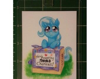"""My Little Pony 3x4"""" Laminated Badge, Trixie Lulamoon"""