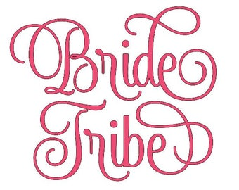 Bride Tribe Iron On Vinyl Decal