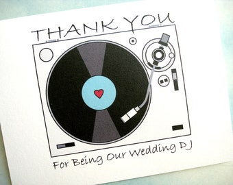 Wedding DJ Thank You Card