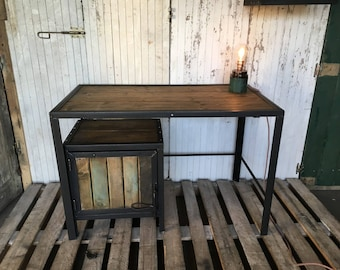 Industrial furniture office wood and steel