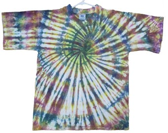 Men's Size L Tie Dyed T Shirt Australian Brand 100% Cotton TDC223