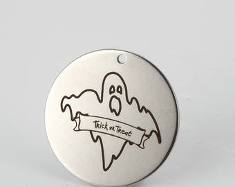 5pcs 25mm stainless steel Halloween Charm Collection Charms-Cute Ghost pendants-Ghost Jewelry