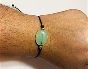 SALE green stone bracelet, HOPE and BALANCE bracelet.