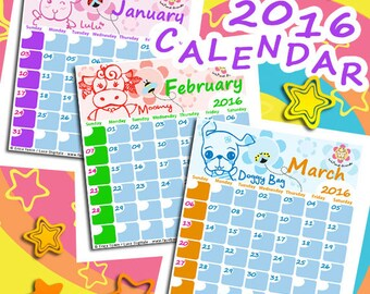 2016 Calendar Lulù and Friends