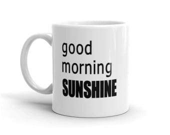 Good Morning Sunshine Adhesive Vinyl Mug or Glass Decal