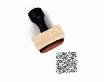 Yarn Skeins Stamp   Yarn Stash Knitting Crocheting Knit Crochet DIY Packaging Tag Craft Art Show Rubber Stamp by Creatiate