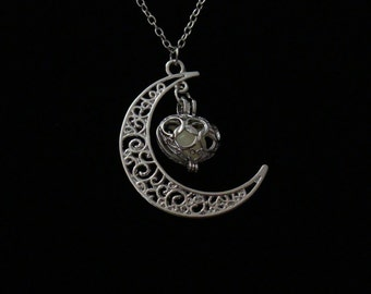 Crescent Moon with Glow in the Dark Heart