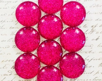 Push Pins / Magnets - Decorative Push Pins - Glass Push Pins - Glitter Push Pins - Magnets - Push Pins - Pink - Raspberry