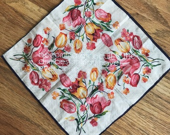 becoming an adult vintage floral hankie