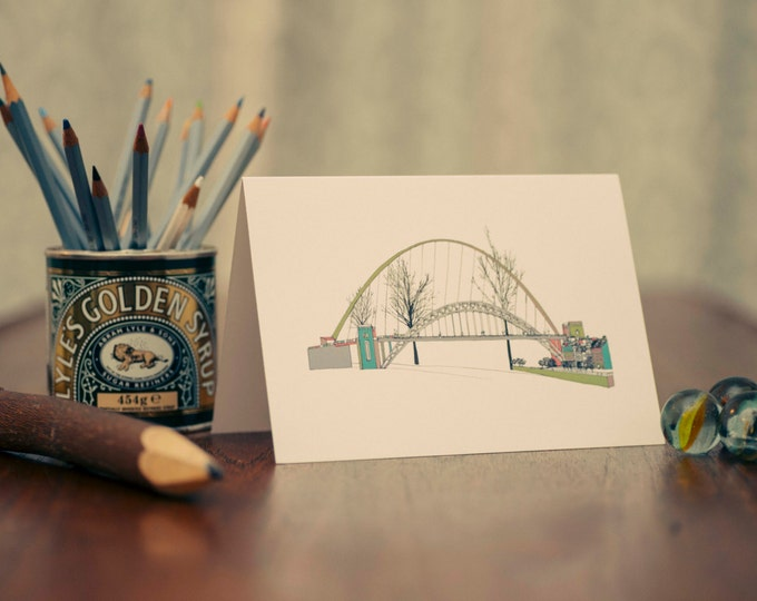 Art / Greeting Card - Millennium & Tyne Bridge, Gateshead and Newcastle.