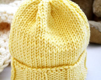Newborn Knit Hat / Knit Baby Hat / Knitted Baby Hat / Baby Beanie