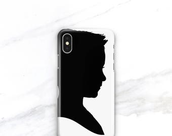 Mothers Day Gift for Mom Grandmother Gift Personalized Phone Case Silhouette iPhone 8 Plus, iPhone 7 Plus Custom iPhone X Case