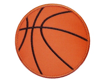 """Basketball Appliques Machine Embroidery Design Applique Pattern in 4 sizes 3"""", 4"""", 5"""" and 6"""""""