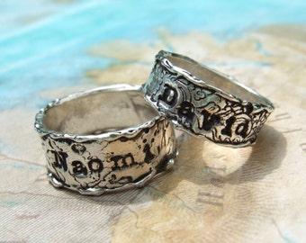 Custom Wedding Bands, Custom Handmade Personalized Wedding Rings, Personalized Wedding Rings, Custom Size 6 7 8 9 10 11 12 13 Half Sizes