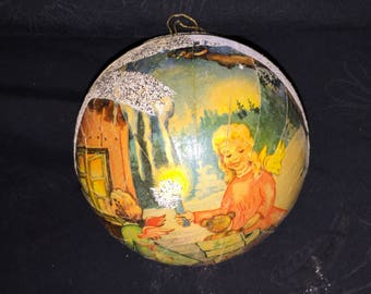 W German Paper Mache Christmas Ornament