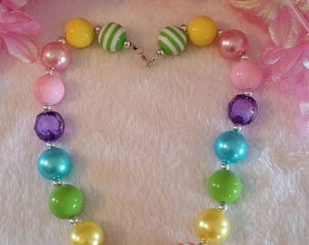 Bubble Gum Baby or Toddler Necklace...Reborn Necklace, Reborn Doll, Bubble Gum Necklace, Photo Prop, Newborn Photo Prop