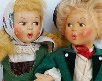 Vintage Baitz Whistling Doll Couple with hangtag