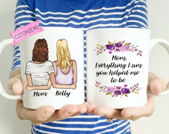 Personalized Mom Gifts | Personalized Gifts for Mom | Custom Mom Mug | Mothers Day Mug | Gift-for-Mom | Mom Birthday Mug | Mom from Daughter