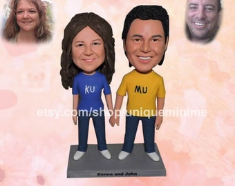 Personalized Groomsmen Gift, Groomsman, Groomsmen Bobblehead dolls , Monogrammed Wedding Gift, Best Man, Father of the Bride, Groom